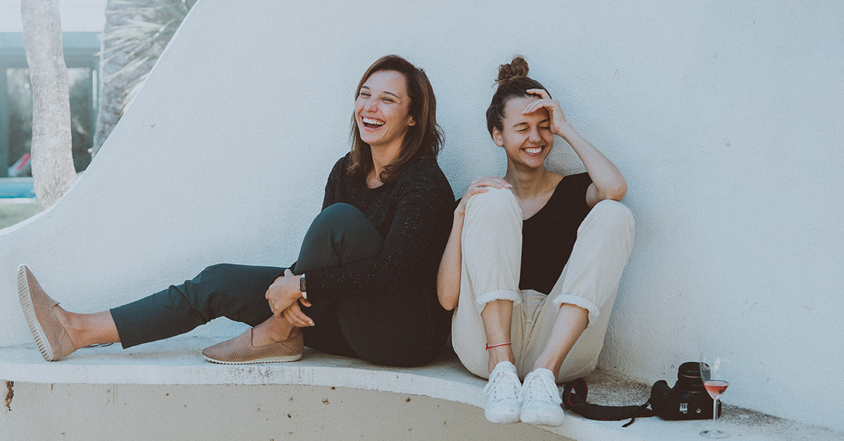 Happy Healthy Women Laughing