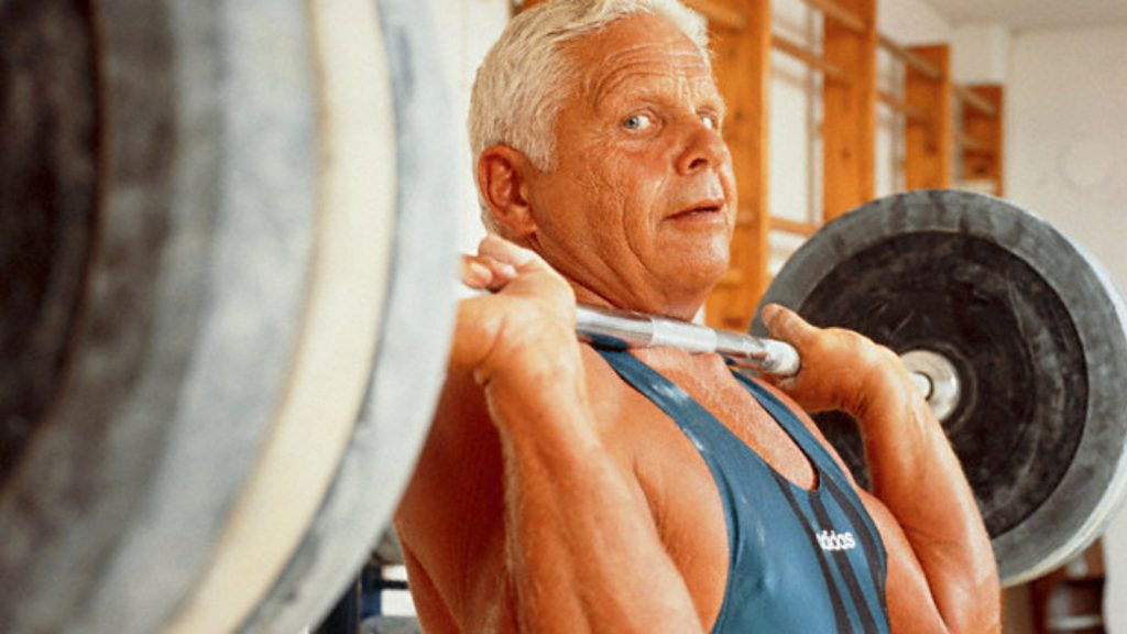 Healthy midlife man in the gym