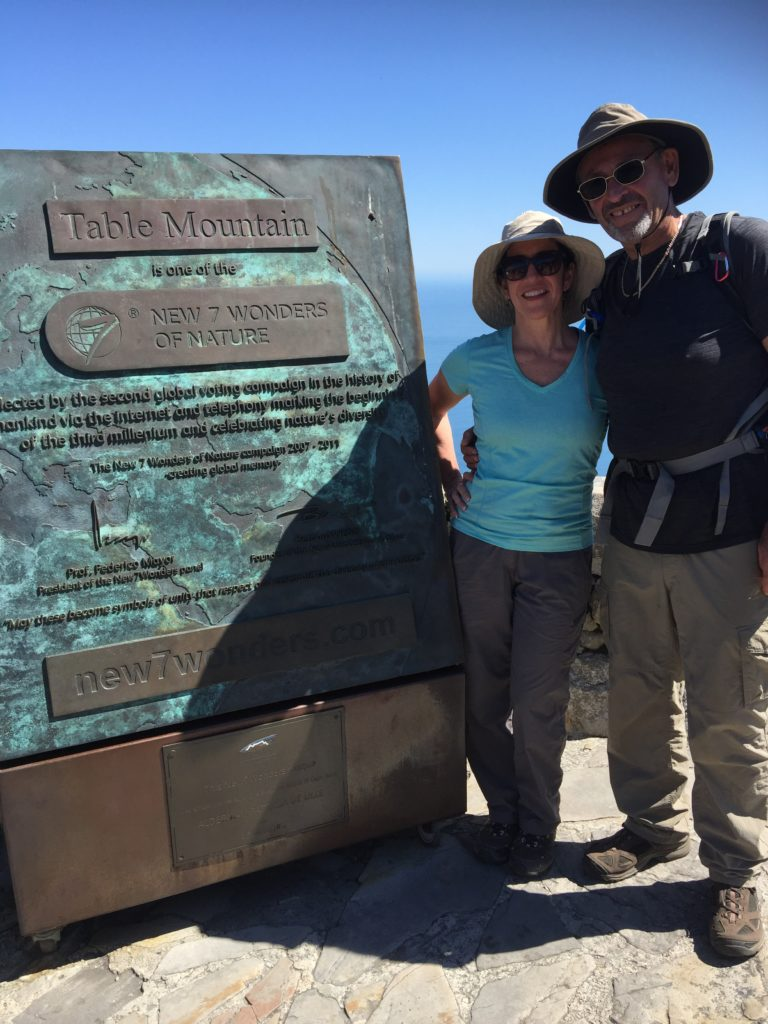 Dr. Liz Lyster on Top of Table Mountain