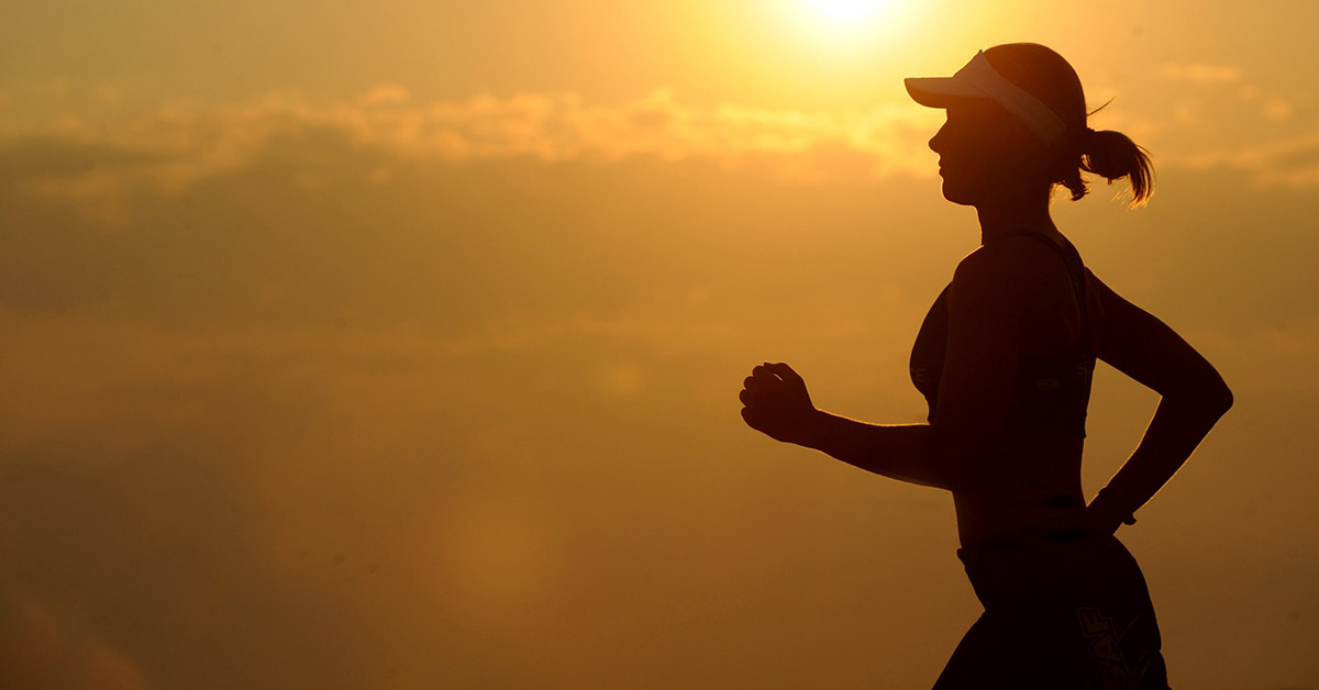 Woman Jogging to Maintain Healthy